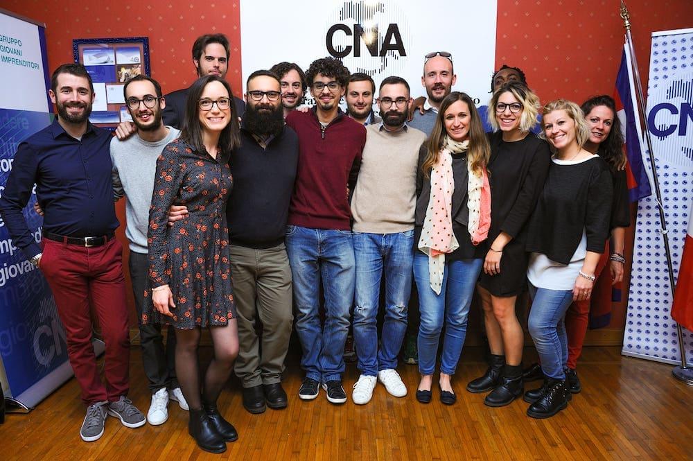 il gruppo dei giovani imprenditori di CNA Biella