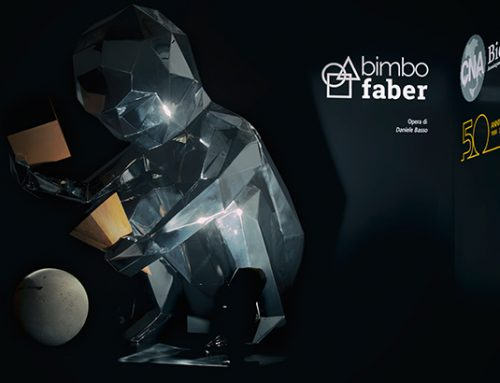 Bimbo Faber: inaugurazione dell'opera di Daniele Basso per il 50° Anniversario di CNA Biella